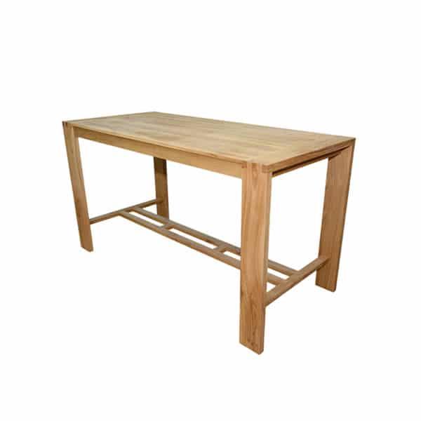 table haute en chêne massif de style Cottage sur mesure