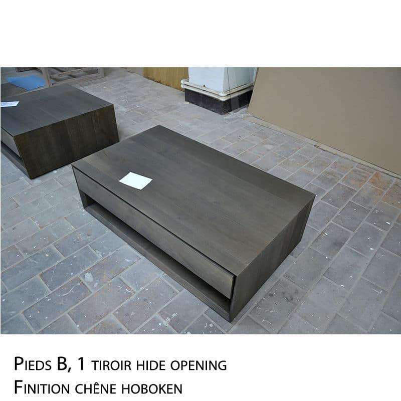 Table basse design bois massif design scandinave sur mesure