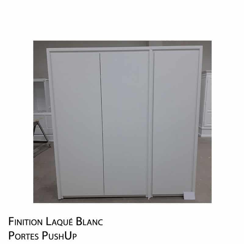 Garde robe laqué blanc
