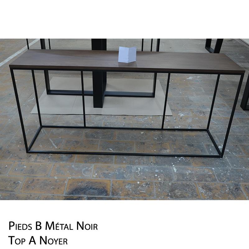 Console métal et bois design épuré et sur mesure