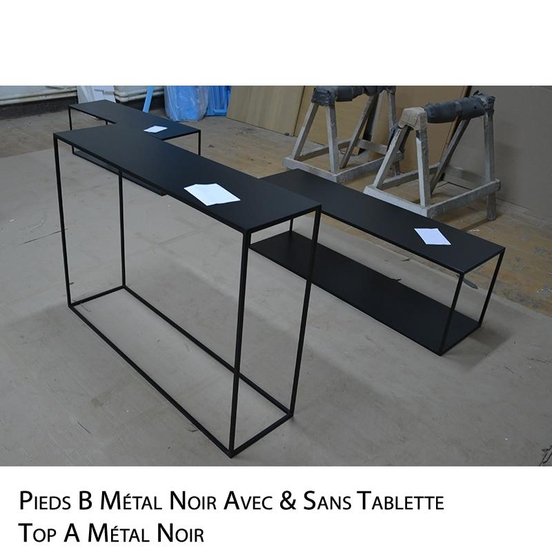 Console métal noir, anthracite ou blanc design épuré et sur mesure