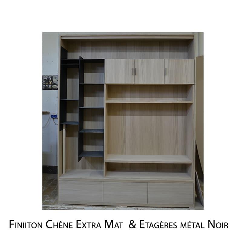 Etagère métal bois