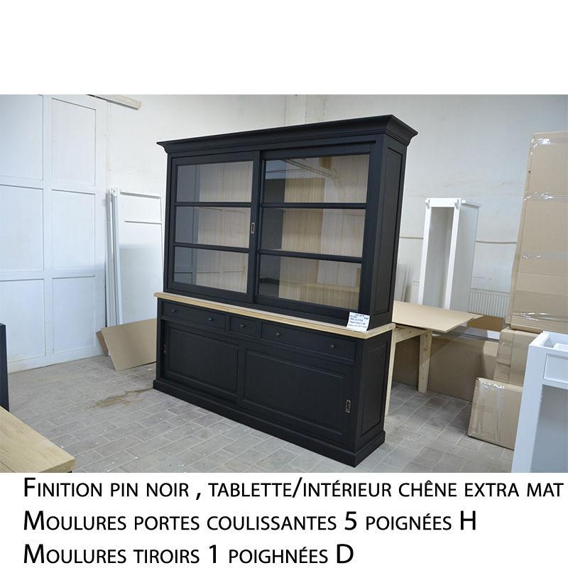 Meuble haut vaisselier en bois de style cottage / charme sur mesure