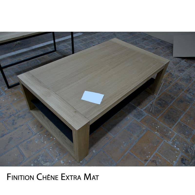 Table basse métal bois
