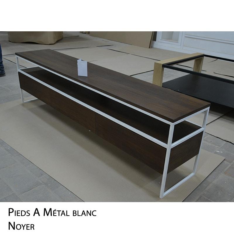 Meuble TV bois métal design épuré et sur mesure