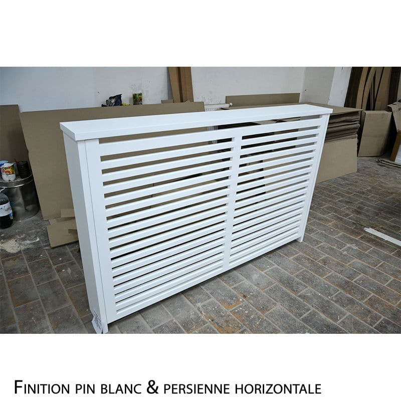 Cache radiateur en bois