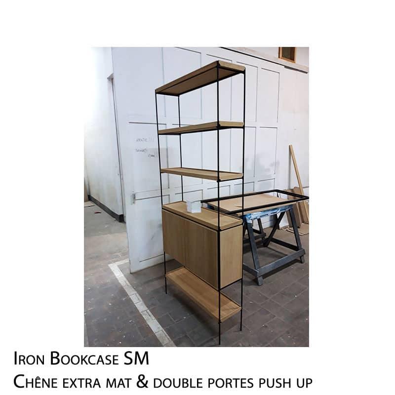 bibliothèque métal bois design et sur mesure