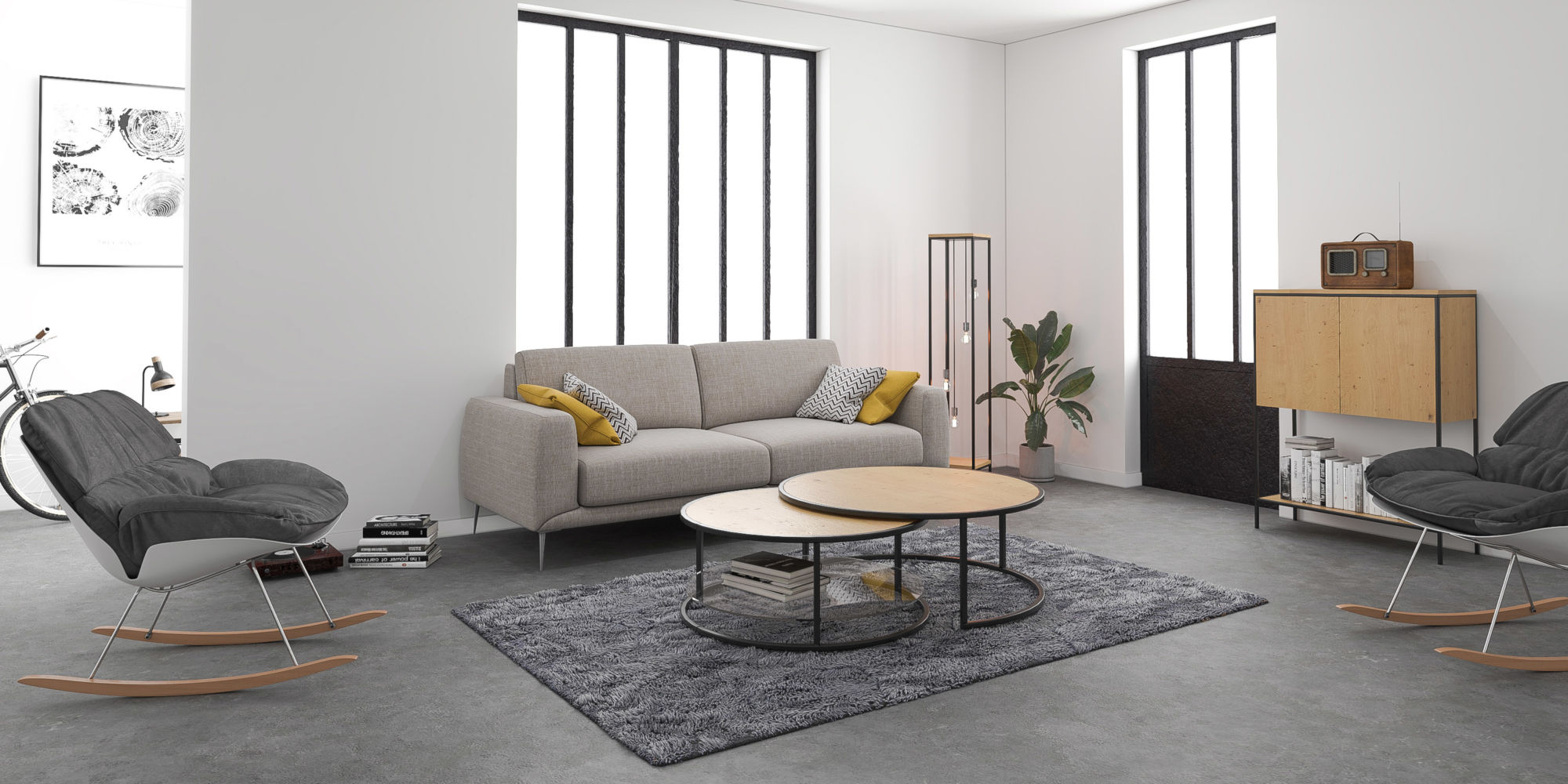 Wood métal furniture