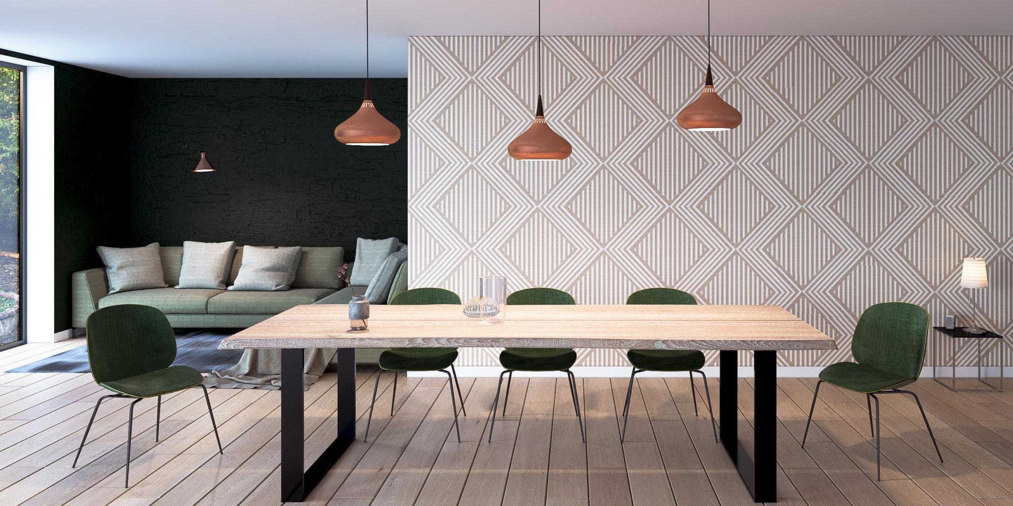 Table Wood metal