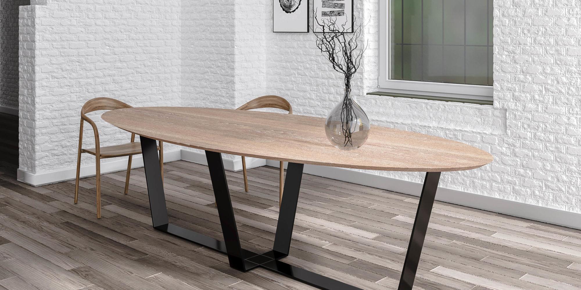 Table Iron Wood