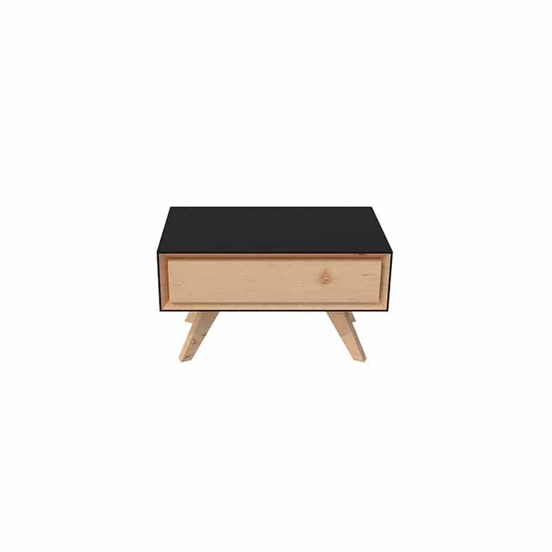 Table de nuit design scandinave bois massif sur mesure
