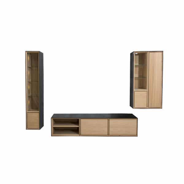 Meuble Tv suspendu bois métal design scandinave sur mesure