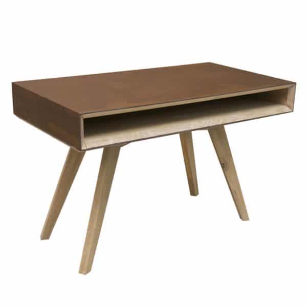 bureau bois métal design scandinave sur mesure