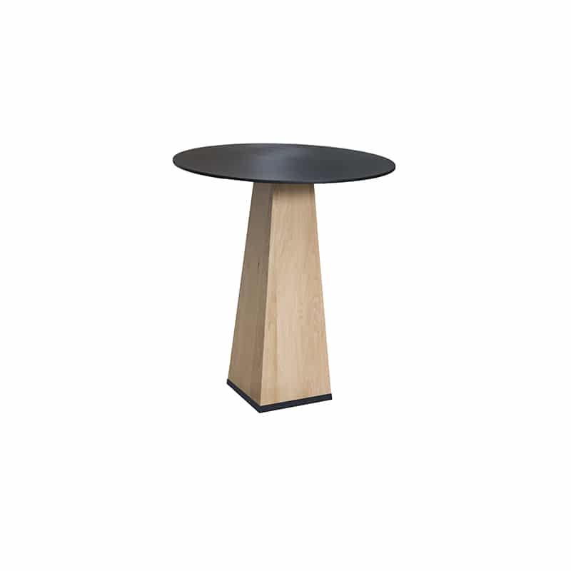 Table haute métal bois design industrielle épuré sur mesure