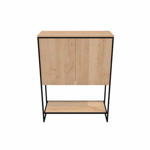 Petit meuble buffet métal bois design industrielle épuré sur mesure