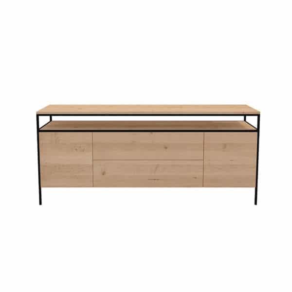 Meuble dressoir métal bois design industrielle épuré sur mesure