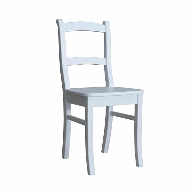 Chaise en pin blanc design cottage / charme