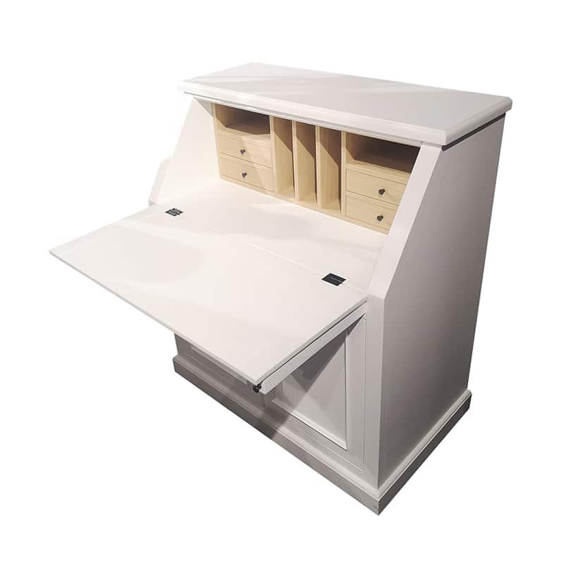 bureau secrétaire en bois design cottage / charme sur mesure