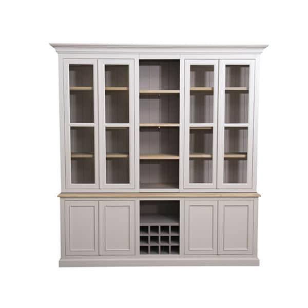Meuble vitrine en bois au style cottage / charme sur mesure