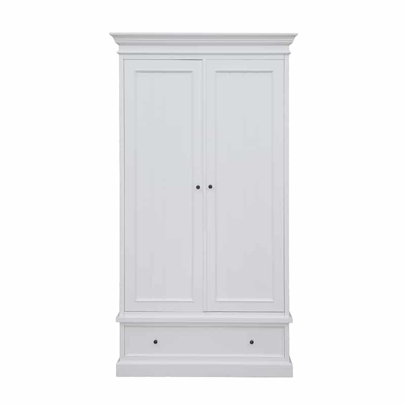 Garde robe en pin blanc design cottage / charme sur mesure