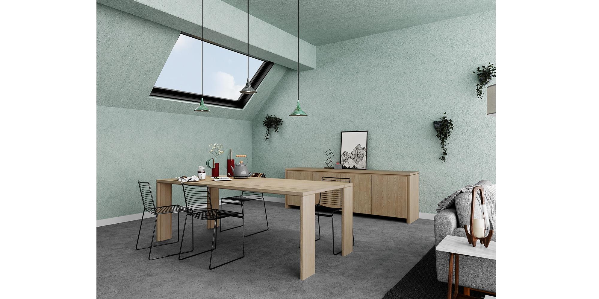 Table en chêne sur mesure design moderne