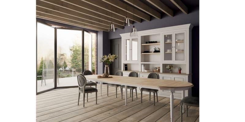Meuble haut vaisselier bois massif design cottage / charme sur mesure