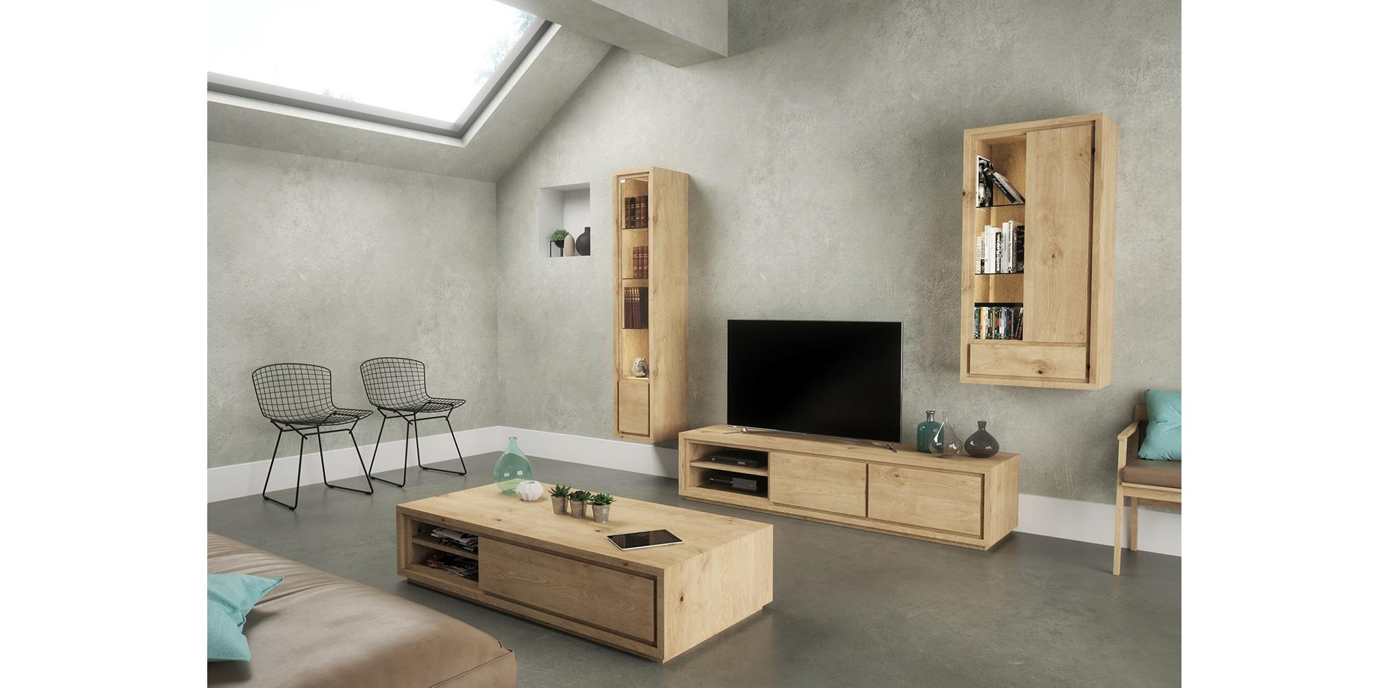 Meuble tv en bois sur mesure au design moderne et épuré