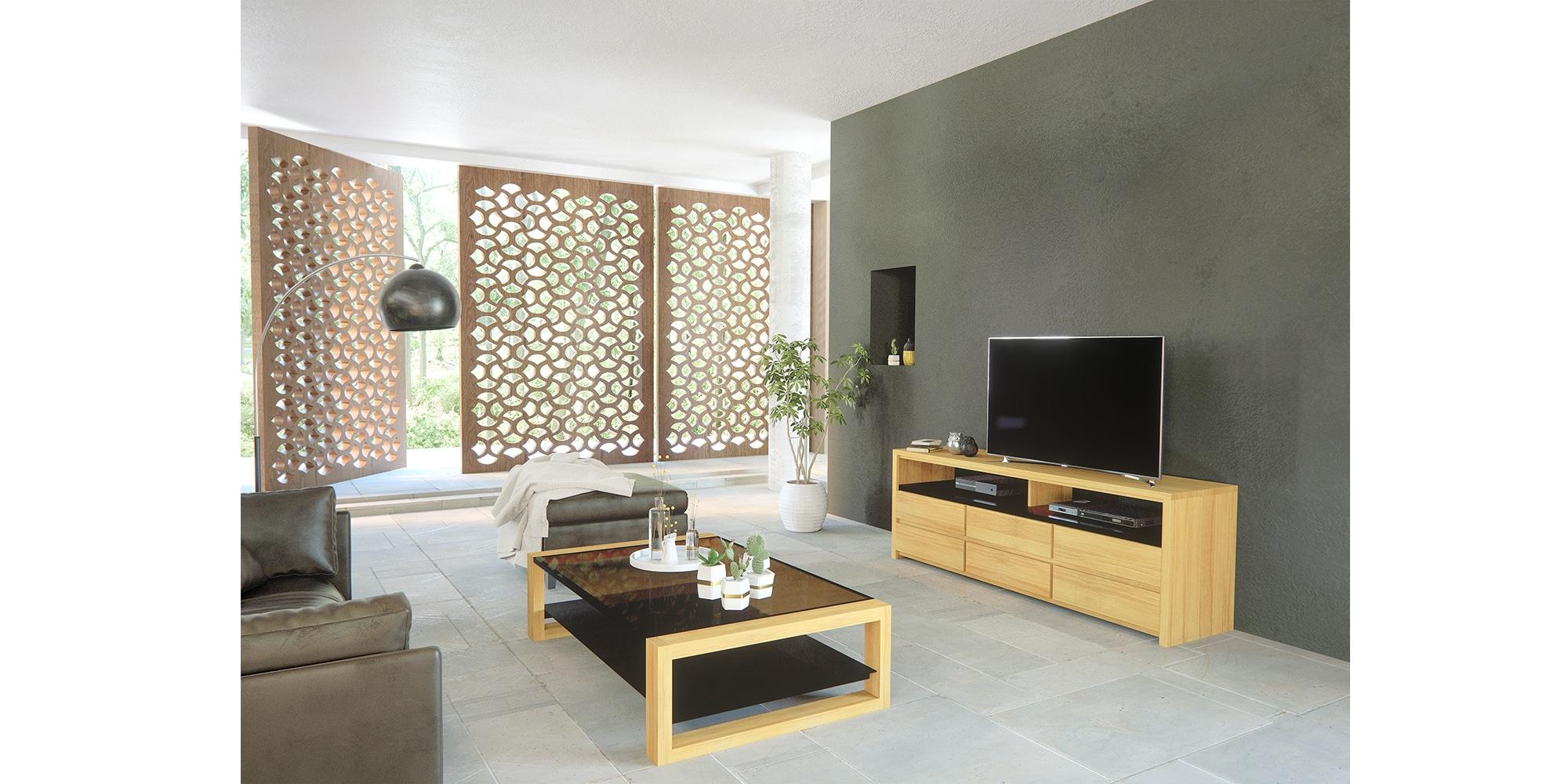 Table basse en bois au design moderne