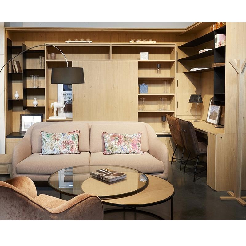 meuble bibliothèque intégré métal bois design industrielle épuré sur mesure