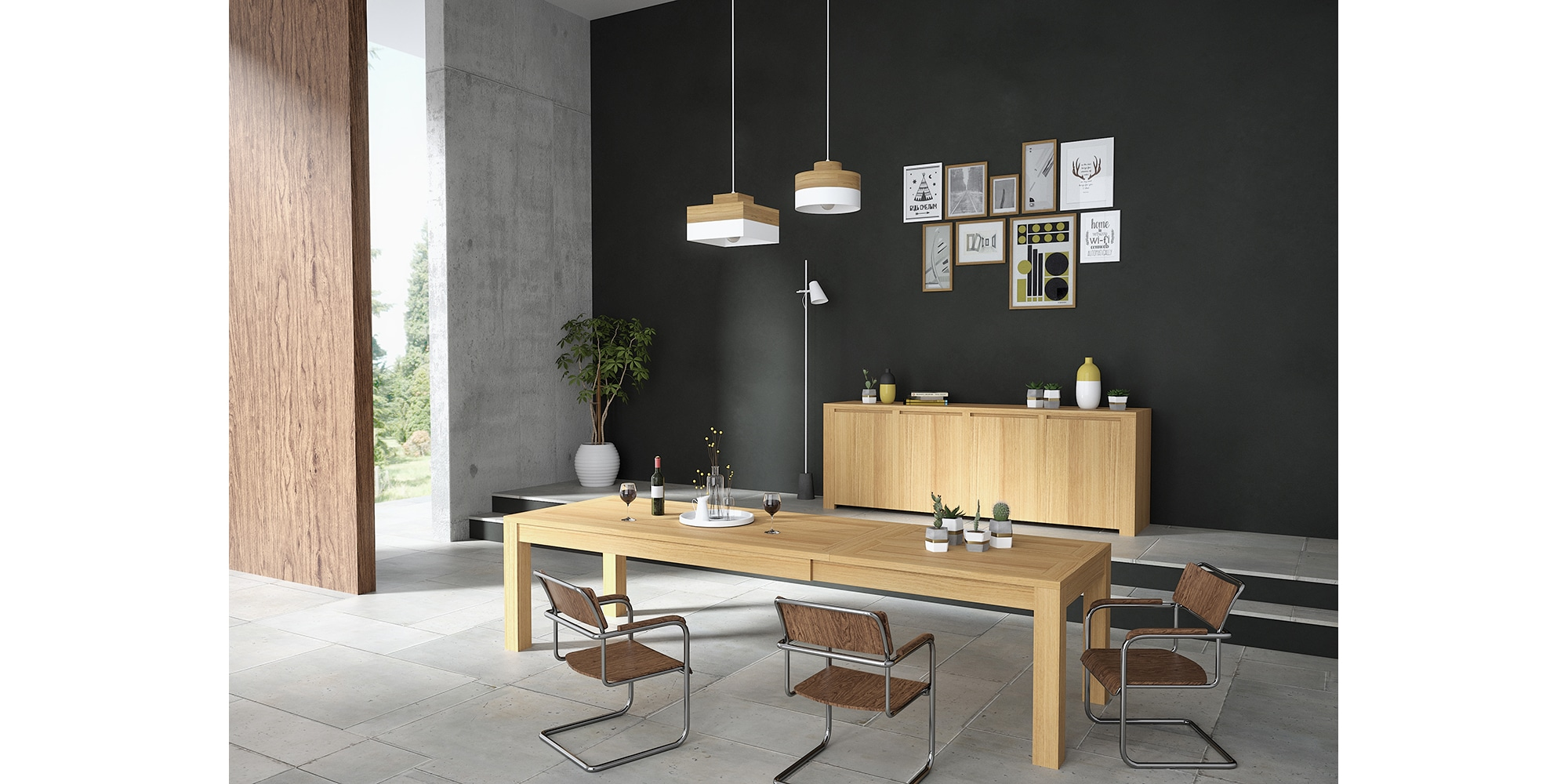 Dressoir au design moderne en bois