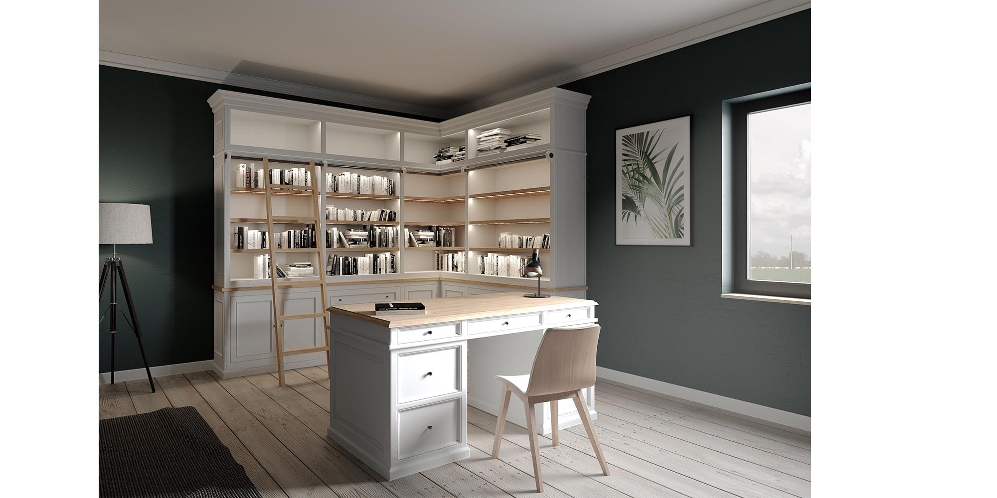 bureau en bois design cottage / charme sur mesure