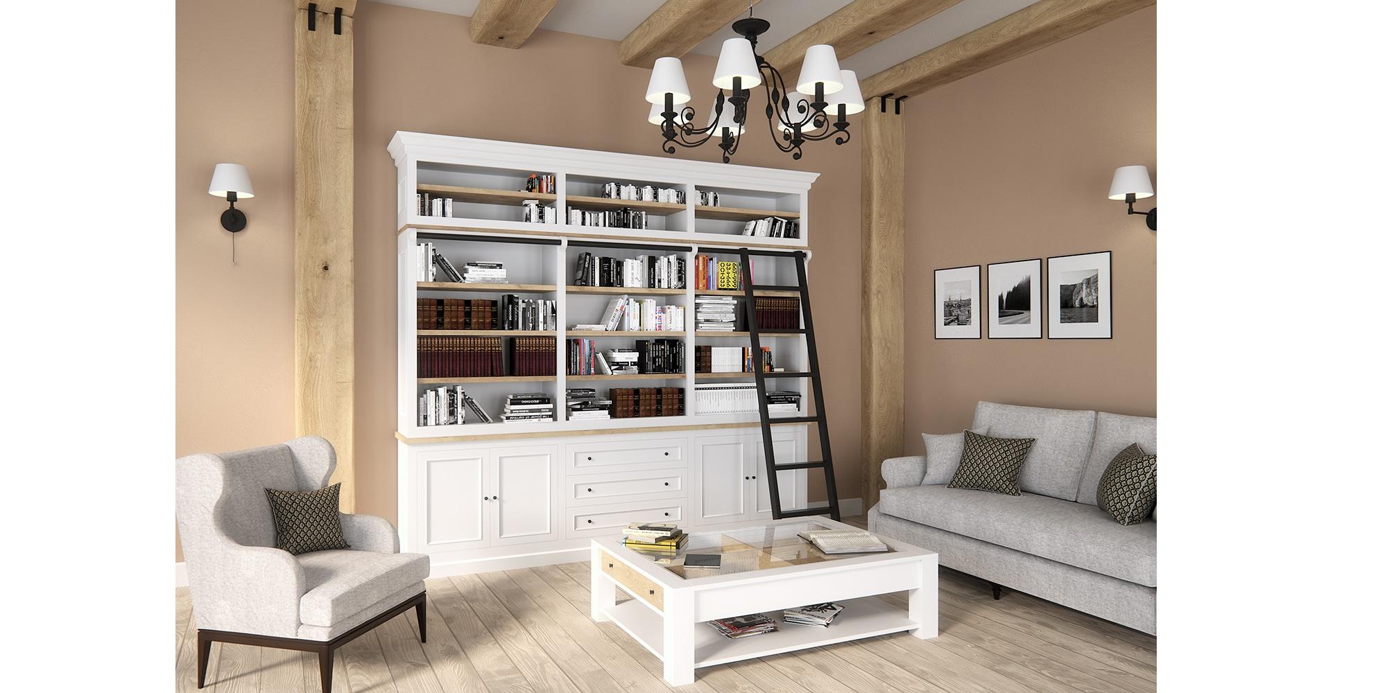 Table basse en chêne et pin massif design cottage / charme sur mesure