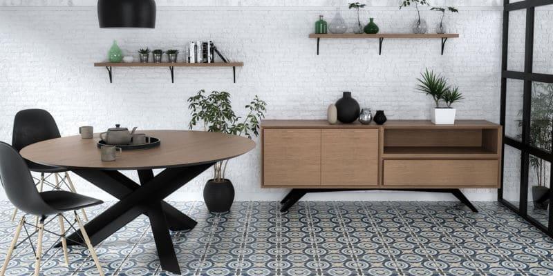 Dressoir métal bois design scandinave et industriel sur mesure